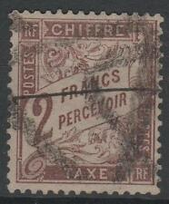 """FRANCE STAMP TIMBRE TAXE N° 26 """" TYPE DUVAL 2F MARRON """" OBLITERE TB  N769"""