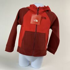 TODDLER BOYS: The North Face Glacier Fleece Full-Zip Hoodie Jacket, Red, 4T