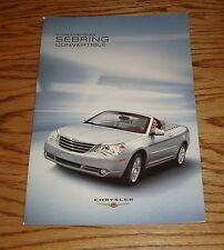 Original 2008 Chrysler Sebring Convertible Sales Brochure 08