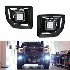 40W CREE LED Pods w/Foglight Cover, Bracket Mounts Relay For 15-up GMC 2500 3500