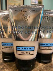 3 Bath & Body Works True Blue Spa WALNUT SHELL Smoothing Foot Scrub 4 oz