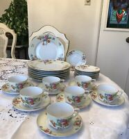 Vintage TK Thuny-Bohemia Czechoslovakia  China Lexington Yellow Floral 31 Pieces