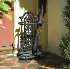 Victorian Style Cast Iron Umbrella Stand Indoor/Outdoor Walking Stick Storage