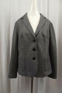 NEW Talbots Womens Blazer Jacket Sz 14 Coat Suit Dress Wool Blend NWT Gray XL