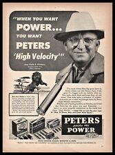 1955 Peters Vintage Ammunition Bullets Ad Clyde B. Kitchens Homer Louisiana La