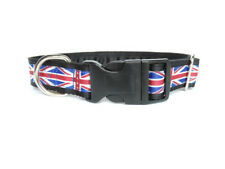 Clip dog collar 1 inch. Side release. British Union Jack / Union Flag