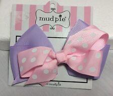 Mud Pie Girls Pink & Purple HairBow Bows NWT