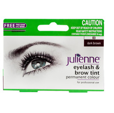 Julienne Eyelash and Eyebrow Permanent Dark Brown 03 Colour Tint 15ml Brush