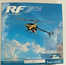 REALFLIGHT RF 7.5 W/ TRANSMITTER INTERFACE RC FLIGHT SIMULATOR, NEW SEALED BOX