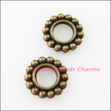 20Pcs Antiqued Bronze Tone Round Circle Spacer Beads Charms 10mm