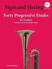40 Progressive Etudes  Trumpet Sigmund Hering Book with Audio-Online CFO3309X