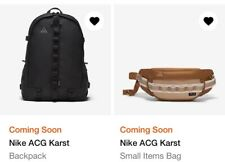 NIKE ACG KARST BACKPACK + SMALL ITEMS BAG LOT BLACK UNRELEASED ALL CONDITIONS