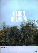 HERON OBLIVION 2016 Ltd Ed HUGE New RARE Poster +FREE Psych/Rock/Indie Poster!