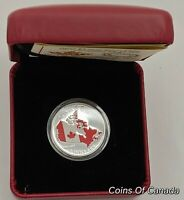 2015 Canada $3 50th Anniversary Of The Canadian Flag Silver Coin #coinsofcanada
