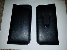 Soft Eyeglass Pouch Eyewear Case with Pocket Clip In Black