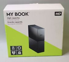 WD 8TB My Book Desktop External Hard Drive USB 3.0 WDBBGB0080HBK-NESN Black