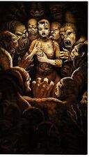 Unframed Art Poster fantasy art she devil holding baby in horde of ghouls (k82)