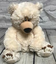 "First Main Adorable Plush Stuffed Bear Ivory  ChuckleBeary 11"" sitting SO SOFT"
