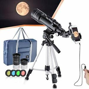 Refractive professional astronomical telescope, HD high magnification, dual-use,