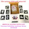 GLITTER TATTOO KIT MYSTICAL unicorns 10  OR REFILL ITEMS