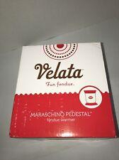 New in Box Velata Red Razz Curve Fun Fondue Electric Warmer Set by Scentsy