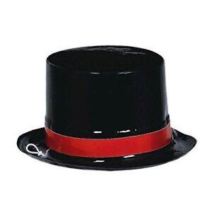 Classic Casino Poker Night Black Vegas Mini Plastic Party Top Hats