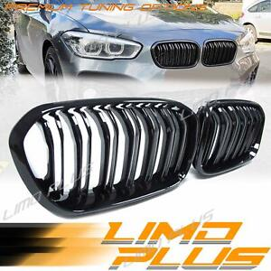 Gloss Black Front Kidney Grille Grill for BMW 1 Series F20 Hatch LCI 15-19 fg25
