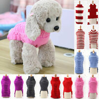 Pet Dog Cat Knitted Sweaters Winter WARM Puppy Coats Jumpers For Small Large Dog