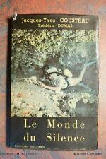 *LE MONDE DU SILENCE (1259CD.)JACQUES YVES COUSTEAU FREDERIC DUMAS 1956 EDIT ORI
