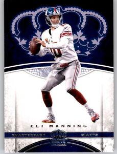 2017 Preferred Crown Royale Eli Manning NFL PWE Base Card Giants #65