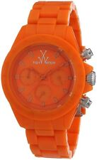 ToyWatch Women's Orange Plastic Chronograph Quartz Watch MO12OR