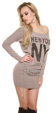 Koucla Feinstrick Minikleid Mit Sexy Rissen Abendkleid Partykleid XS S M
