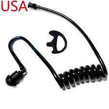 BLACK ACOUSTIC EAR TUBE + BLACK LEFT MEDIUM EARMOLD FOR MOTOROLA RADIO EARPIECE