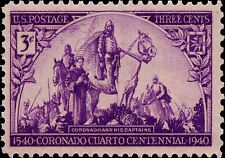 US Postage PHOTO MAGNET CORONADO Expedition 1940 issue 3 cents NOT A REAL STAMP