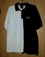 Rare Black White GUINNESS Embroidered Logo Size XL Polo Shirt Cotton