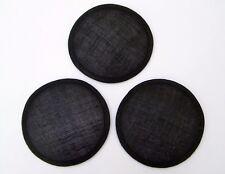 3 Sinamay Bases, 13cm Diameter approx, Black