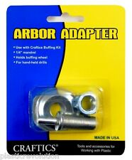 "Craftics 1/4"" DIA Mandrel Arbor Adapter for buffing wheels and hand held drills"