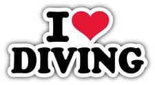 I Love Diving Car Bumper Sticker Decal  -  ''SIZES''