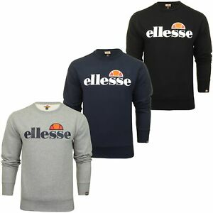 Ellesse Mens Logo Front Crew Neck Sweater SUCCISO - Long Sleeved