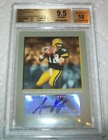 POP1 2005 Topps Turkey Red Autographs Gray Aaron Rodgers BGS 9.5 10 AUTO ROOKIE