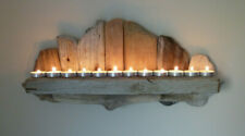 Lovely Shabby Chic, Rustic, Unique Driftwood Shelf, T-Light Candle Holder Sconce