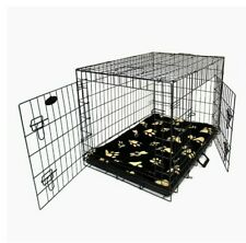 Large 2 Door Pet Dog Cage Crate Foldable Carry Transport Carrier use once boxed