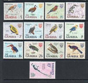 GAMBIA MNH 1966 SG233-245 BIRDS