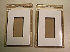 2) NEW LUTRON CLARO WALLPLATE GLOSS FINISH NO VISIBLE SCREWS WHITE CW-1-WH