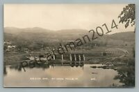 Power Dam MCINDOE FALLS Vermont RPPC Antique Eastern Photo Postcard CRD Co 1920s