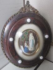 Cornice ovale Napoleone III - scultura in caolino - arte sacra - Madonna