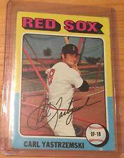 1975 Topps Baseball Card Carl Yastrzemski #280 VG Crease Upper Corner