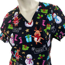 New listing Scrubstar Merry Christmas Snowman Reindeer Socks Gifts Xs Scrub Top