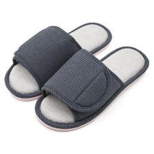 Women Open Toe Diabetic Slippers Arthritis Edema Memory Foam Indoor House Shoes