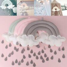 Rainbow Cloud Rain Drops Decor Wall Hanging Photo Prop Baby Nursery Mobile  D2